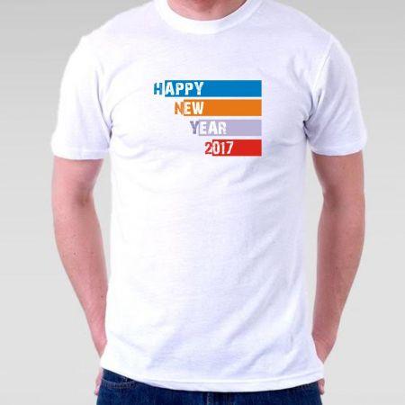 Camiseta Masculina Ano novo 2017 Happy