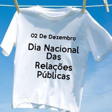 Camiseta Dia Nacional Das Relações Públicas