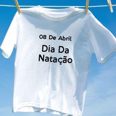 Camiseta Dia Da Natação
