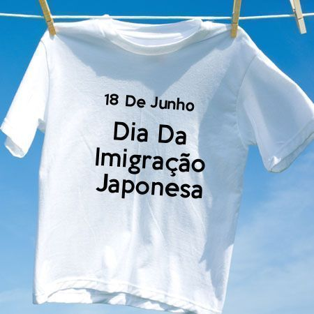 Camiseta Dia Da Imigração Japonesa