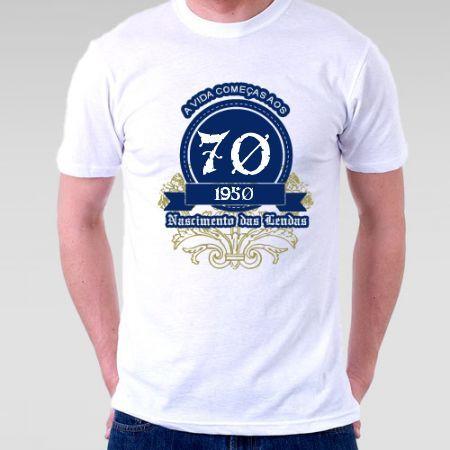 Camiseta A Vida Começa aos 70