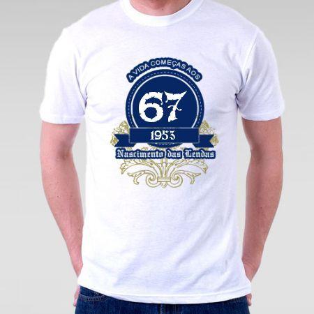 Camiseta a vida começa aos 64 - Camisetas Personalizadas - eCamisetas 9847a0be0e0