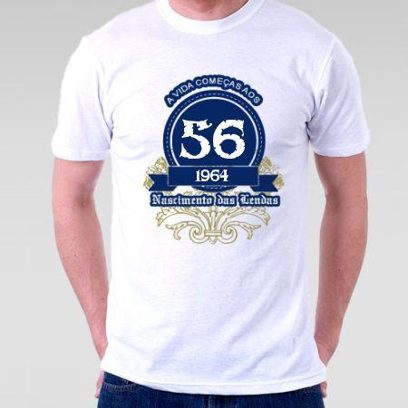 Camiseta a vida começa aos 53