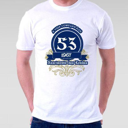 Camiseta a vida começa aos 50 - Camisetas Personalizadas - eCamisetas 4fe60a83575