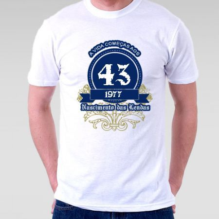 Camiseta a vida começa aos 40