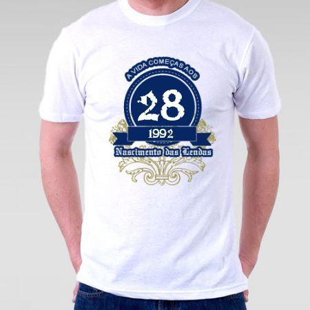 Camiseta A Vida Começa aos 28