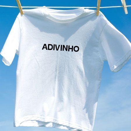 Camiseta Adivinho