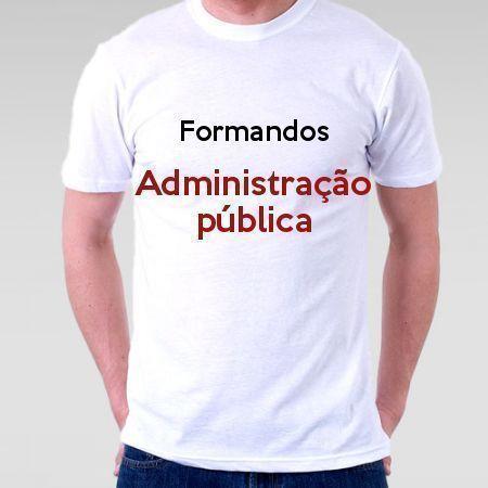 Camiseta Formandos Administração Pública