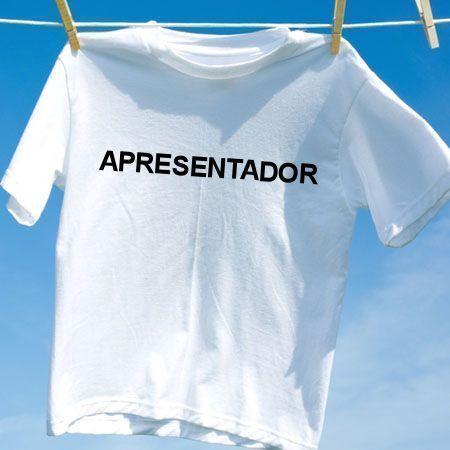 Camiseta Apresentador