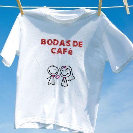 Camiseta Bodas De Café