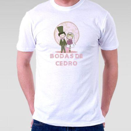 Camiseta Bodas De Cedro Modelo 2