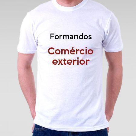 Camiseta Formandos Comércio Exterior