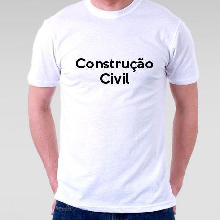 Camiseta Construção Civil - Camisetas Personalizadas - eCamisetas 76662d75cf9