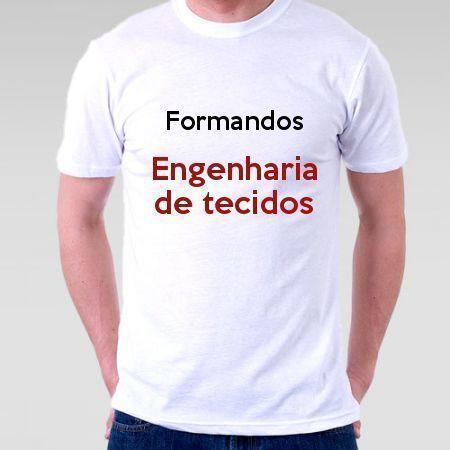 Camiseta Formandos Engenharia De Tecidos