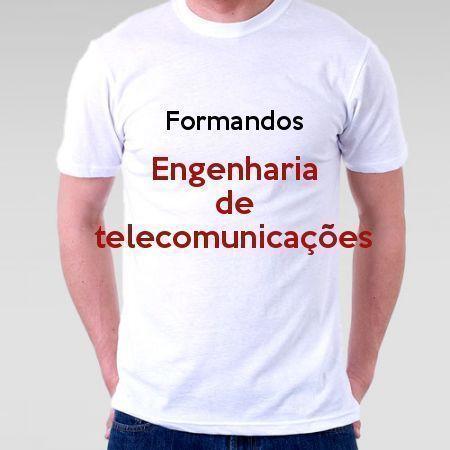 Camiseta Formandos Engenharia De Telecomunicações