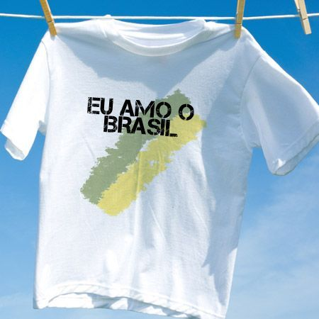 Camiseta Eu amo o brasil