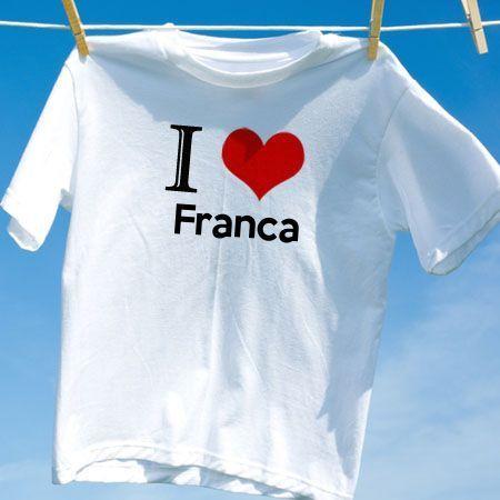 6cc4353125 Camiseta Franca - Camisetas Personalizadas - eCamisetas
