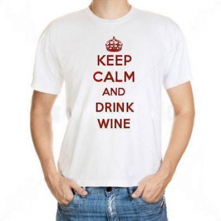 Camiseta Keep Calm And Drink Wine