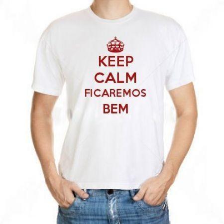 Camiseta Keep Calm Ficaremos Bem