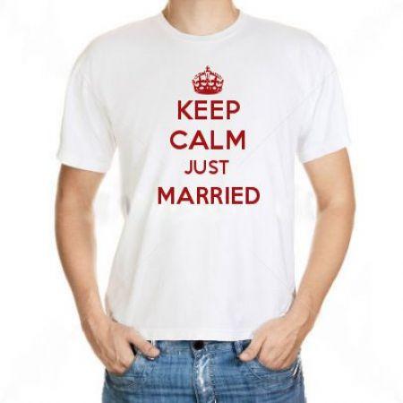 Camiseta Keep Calm Just Married
