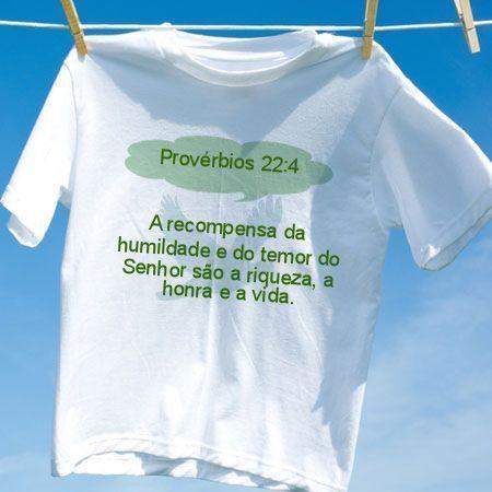 4ffb0295f0 Camiseta Provérbios 22 4 - Camisetas Personalizadas - eCamisetas