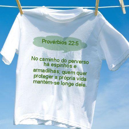 Camiseta Provérbios 22 5