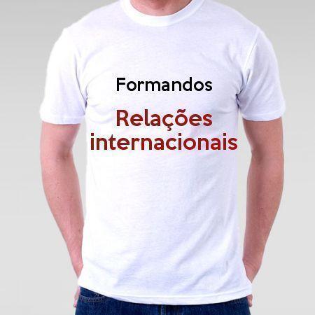 Camiseta Formandos Relações Internacionais