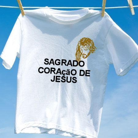 25fa11837 Camiseta Sagrado coracao de jesus - Camisetas Personalizadas ...