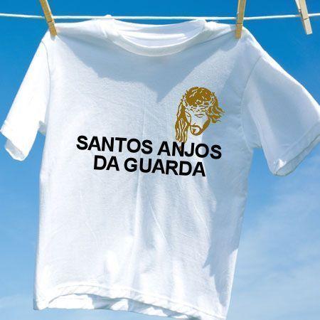 Camiseta Santos anjos da guarda - Camisetas Personalizadas - eCamisetas 42edc8484b90f