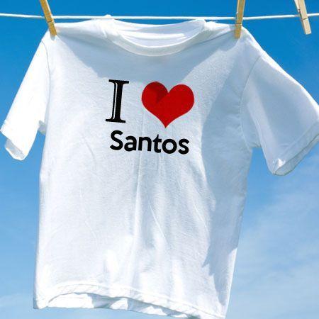 277b3accc92fa Camiseta Santos - Camisetas Personalizadas - eCamisetas