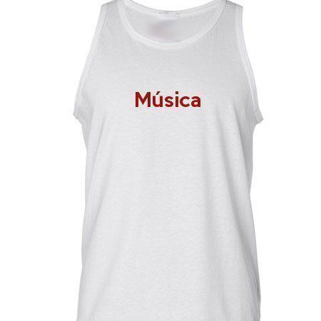 Camiseta Regata Música