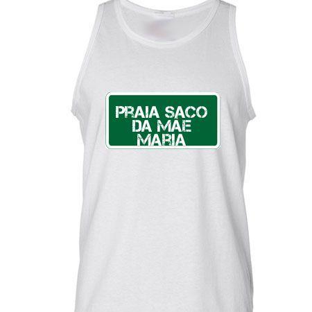 Camiseta Regata Praia Praia Saco Da Mãe Maria