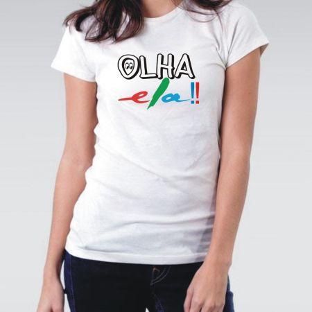 Camiseta OLHA ELA feminina 2