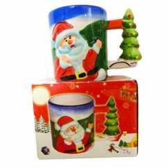 Caneca Natal Papai Noel Azul