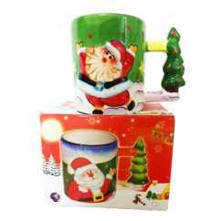 Caneca Natal Papai Noel Verde
