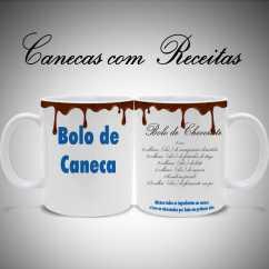 Caneca Receita Bolo Chocolate