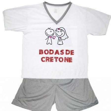 Pijama Bodas De Cretone