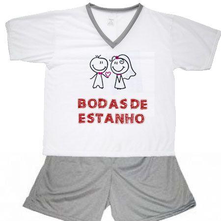 Pijama Bodas De Estanho