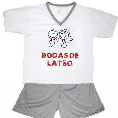 Pijama Bodas De Latão