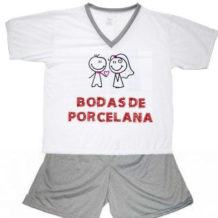 Pijama Bodas De Porcelana