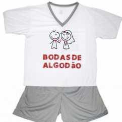 Pijama Bodas De Algodão