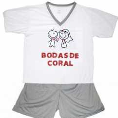 Pijama Bodas De Coral