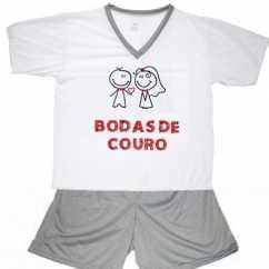 Pijama Bodas De Couro