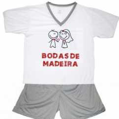 Pijama Bodas De Madeira