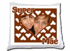 Almofada Personalizada Coração Super Mãe