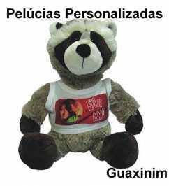Guaxinim de Pelúcia Personalizado