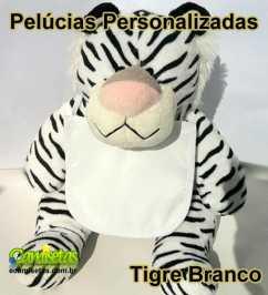 Tigre Branco de Pelúcia Personalizado