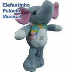Elefantinho de Pelúcia Musical Personalizado