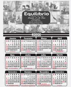Calendário Personalizado 2020 - Kit com 3