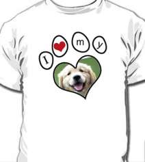 Camiseta Personalizada I Love My Dog